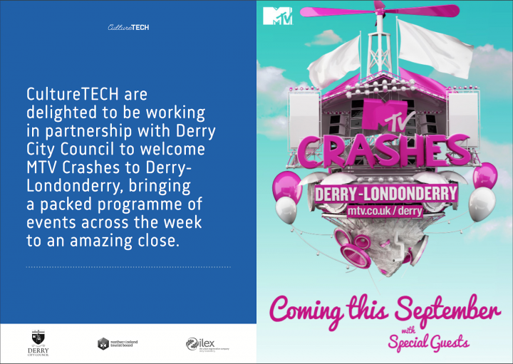 MTV 'Crashes' Derry-Londonderry's Ebrington Square