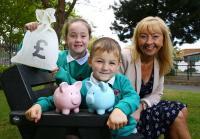 Lisburn pupils celebrate school FC Week with launch of new KS1 MoneySense package